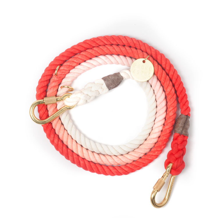 Coral Ombre Cotton Rope Leine